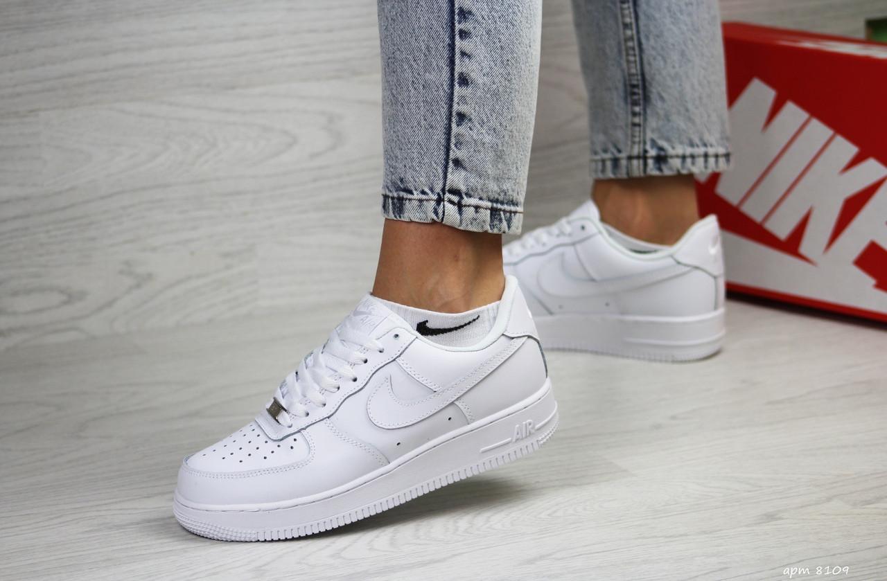 Женские кроссовки Nike Air Force (белые)