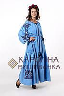 """Заготовка під вишивку """"Сукня жіноча в стилі БОХО"""" ПЛд-025-1 максі лонг (Кароліна вишиванка), фото 1"""