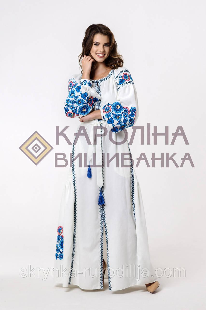 """Заготовка під вишивку """"Сукня жіноча в стилі БОХО"""" ПЛд-024-1 максі лонг (Кароліна вишиванка)"""
