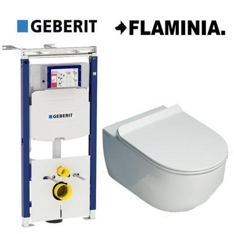 Унитаз Flaminia App Goclean без ободка + сиденье + Geberit Duofix (AP118G+QKCW05+111.362.00.5)
