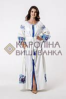 """Заготовка під вишивку """"Сукня жіноча в стилі БОХО"""" ПЛд-014 максі лонг (Кароліна вишиванка), фото 1"""