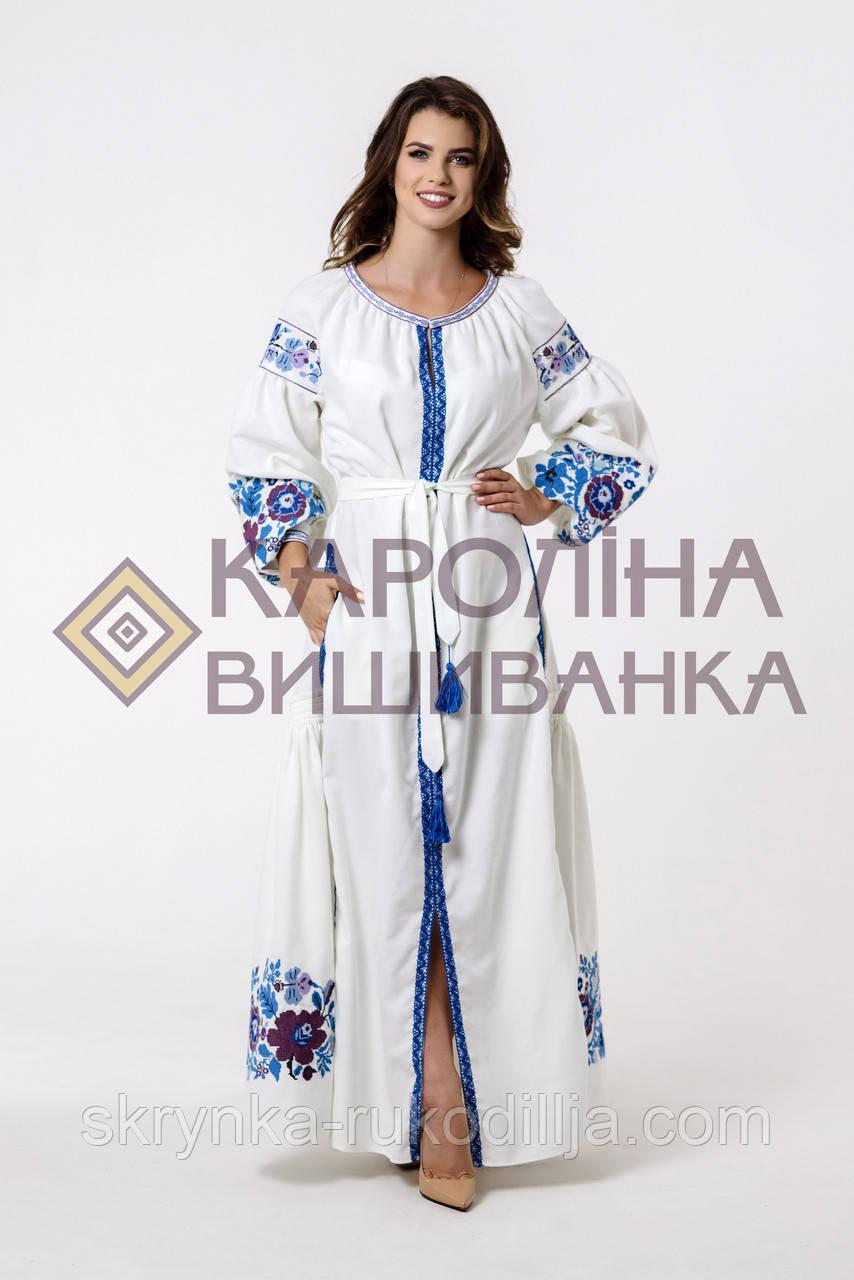 """Заготовка під вишивку """"Сукня жіноча в стилі БОХО"""" ПЛд-014 максі лонг (Кароліна вишиванка)"""
