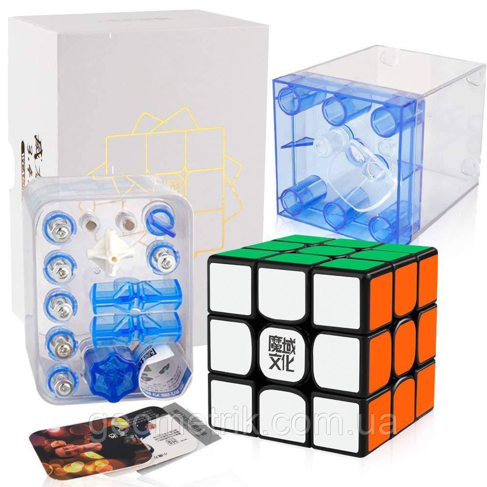 Кубик Рубика 3х3 Weilong WRM 3x3 (magnetic) чёрный (MoYu)