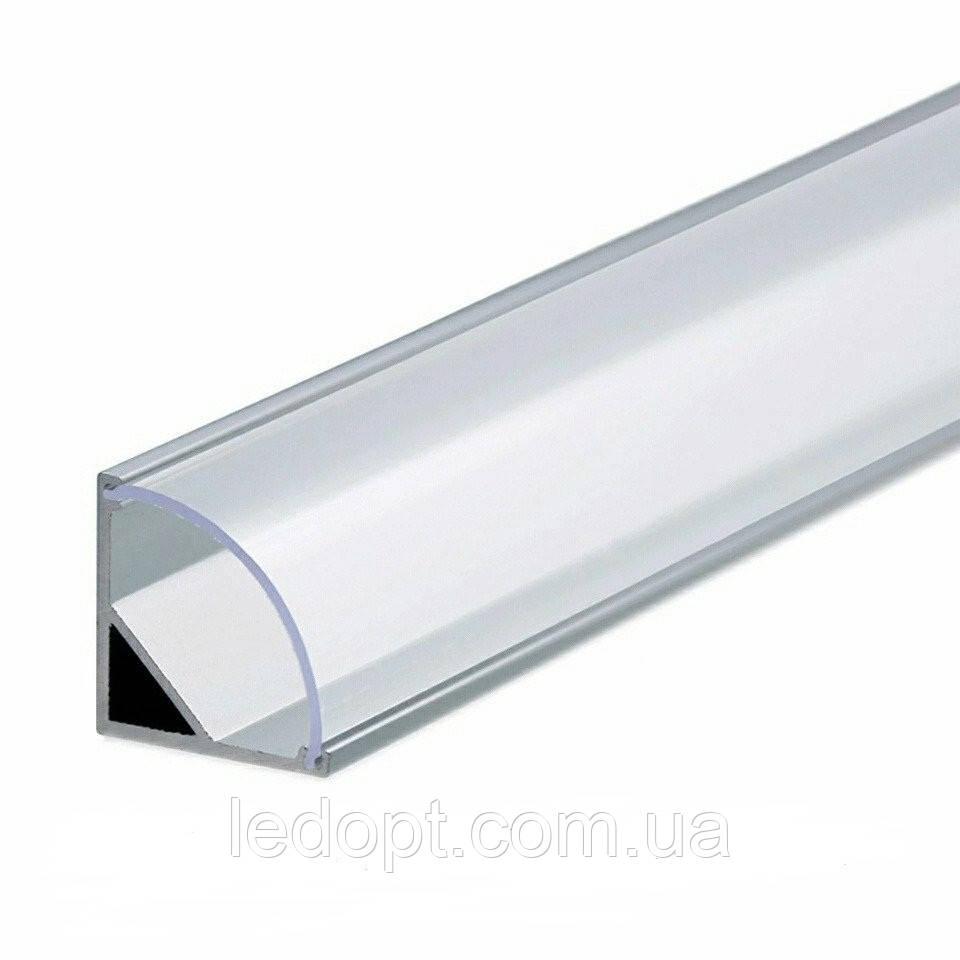 Алюминиевый профиль угловой (ОПТ) SL09 для светодиодной Led ленты, фото 1