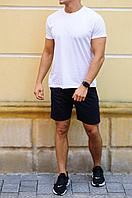 Мужской летний комплект  - синие шорты и футболка цвета на выбор   S, M, L, XL, XXL