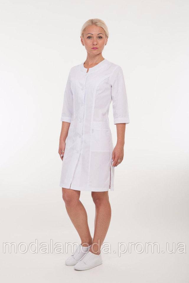 Халат медицинский женский с ажурными карманами