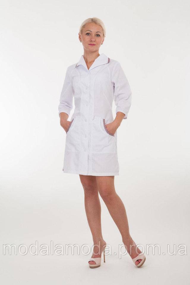 Халат медицинский женский приталенной талией