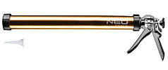Клеевой пистолет Neo Tools 61-006 для герметиков, 600мл, стальной-алюминиевый корпус, толщина 1.1 мм, вращател