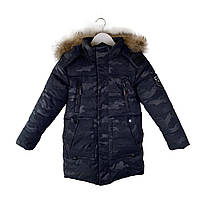 Камуфляжная зимняя куртка на мальчика 8-12 лет. Размеры 128-152, есть замеры