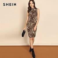 Леопардовое платье до колена, тренд!