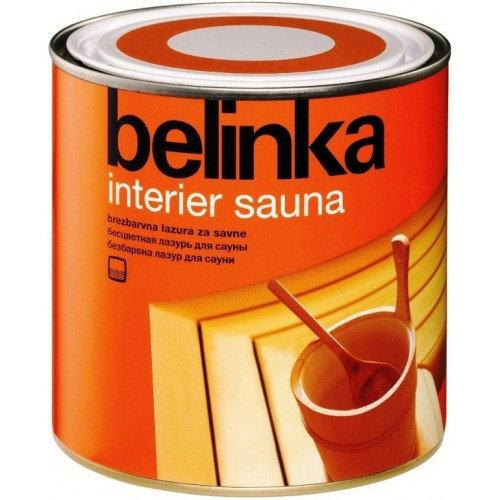 Водная лазурь для бань и саун BELINKA INTERIER SAUNA (бесцветный) 0,75 л