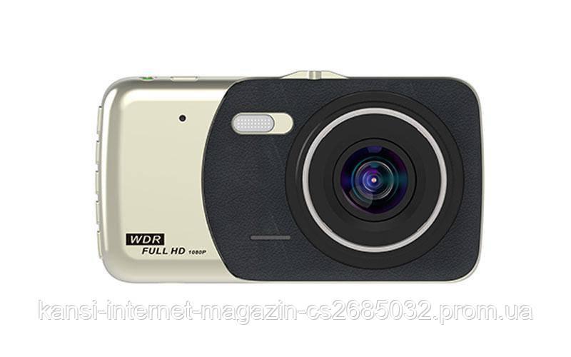 Видеорегистратор автомобильный DVR CT 503 1080P 4'' с двумя камерами