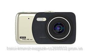 """Автомобільний відеореєстратор DVR CT 503 1080P 4"""" з двома камерами"""