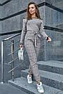 Женская трикотажная кофта серая с люрексом, повседневная, молодёжная, элегантная, с открытыми плечами, фото 3