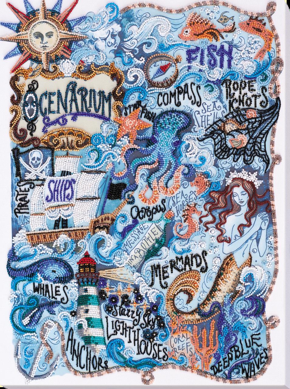 Наборы для вышивки бисером Тайны океана (31 х 42 см) Абрис Арт AB-684