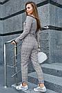 Женская трикотажная кофта серая с люрексом, повседневная, молодёжная, элегантная, с открытыми плечами, фото 5
