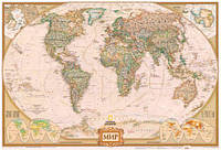 Фотообои для декора стен карта мира  разные текстуры , индивидуальный размер