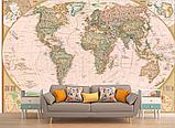 Фотообои для декора стен карта мира  разные текстуры , индивидуальный размер, фото 2