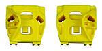 Направляющие каретки стеклоподъемника Seat Ibiza 3 6L передняя левая правая дверь (Усиленный пластик)
