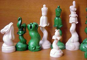 Скульптурные шахматы. Цветы в стиле модерн. Стеклопластик