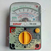 Мультиметр аналоговый SUNWA KS-238 (1000В, 5A, 2МОм, hFE, звуковая прозвонка)