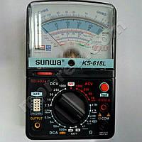 Мультиметр аналоговий SUNWA KS-618L (1000В, DC10A, 20МОм, hFE, тест батарей, підсвітка)
