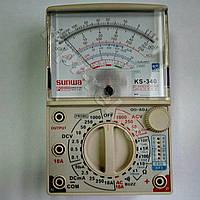 Мультиметр аналоговий SUNWA KS-340 (1000В, DC10A, 20МОм, hFE, звукова продзвонювання)
