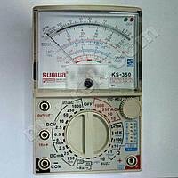Мультиметр аналоговий SUNWA KS-350 (1000В, DC10A, 20МОм, hFE, тест батарей, Logic test, звукова продзвонювання)