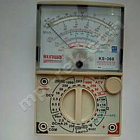 Мультиметр аналоговий SUNWA KS-360 (1000В, DC250мA, 20МОм, тест батарей, звукова продзвонювання)
