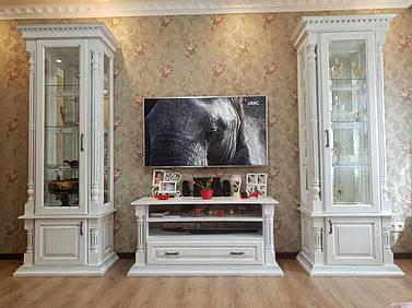 Набор мебели в зал из натурального дерева - массив дуба.