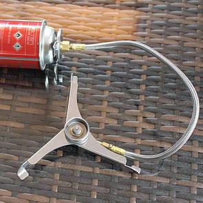 Переходник-тренога со шлангом для газовых горелок под цанговый баллон Cobra KA 0103 Перехідник тринога.