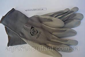 Рабочие перчатки стрейч серые