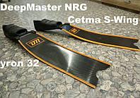 Карбоновые ласты для фридайвинга Deep Master NRG калоша Cetma S-wing угол 32