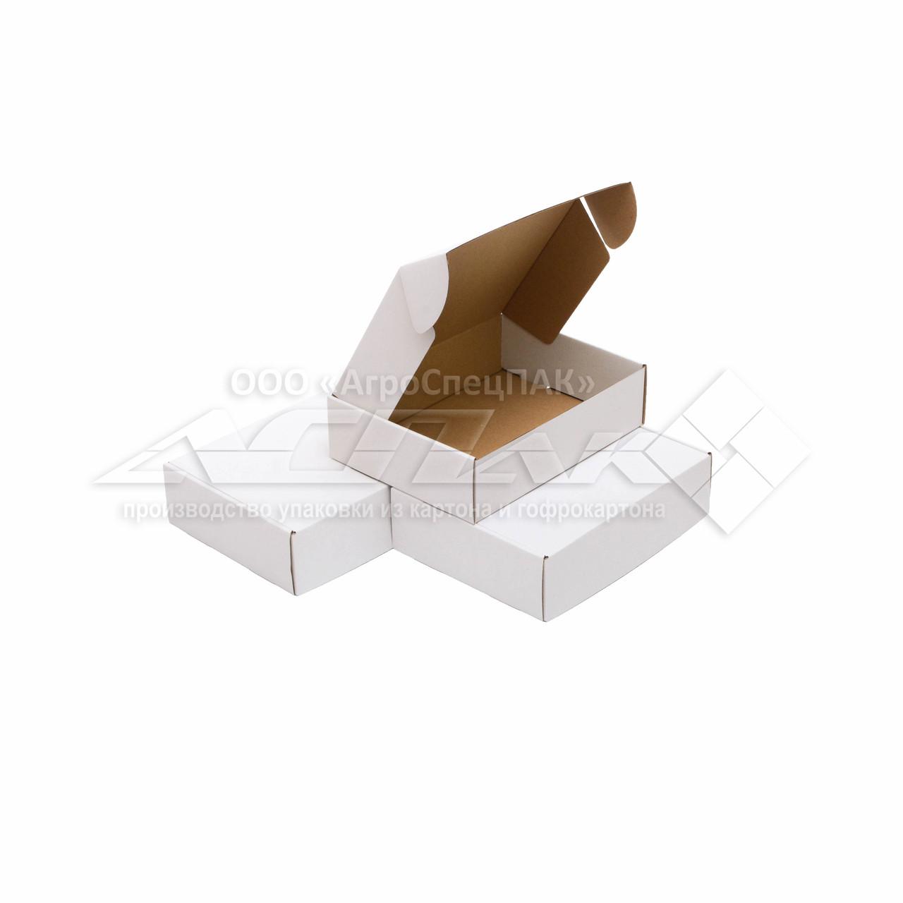 Картонная коробка 245*185*65 белая