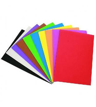 Бумага детская цветная, картон