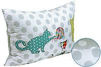 """Подушка с силиконовыми шариками """"Cat"""" / Сатин Руно 50*70"""
