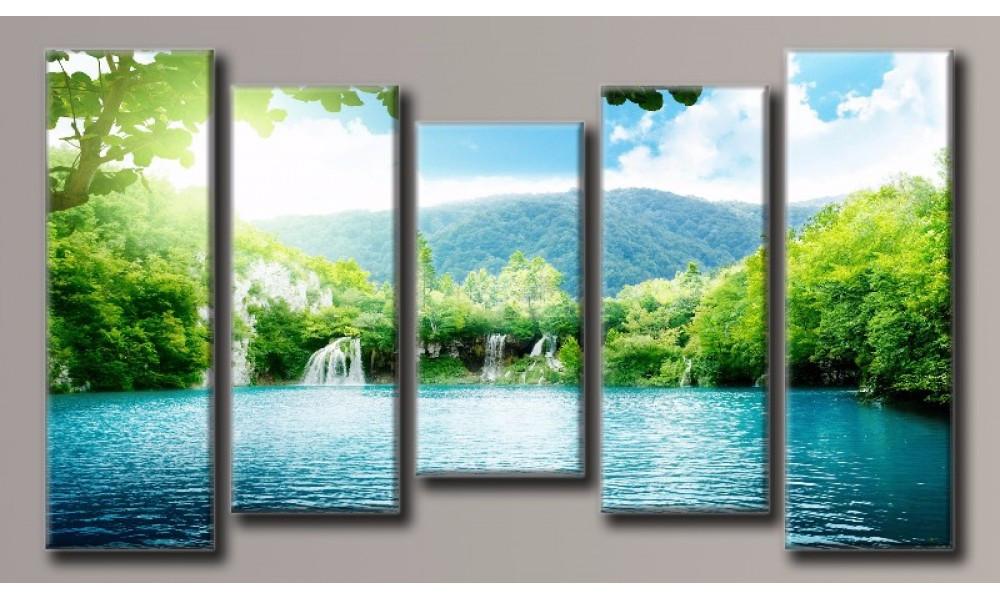 Модульная картина Водопад-8 55х100,5 см (HAB-060)