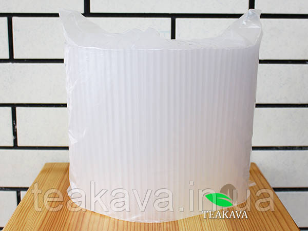 Трубочка фреш коктейльная прозрачная, d8, 21 см, 500 шт