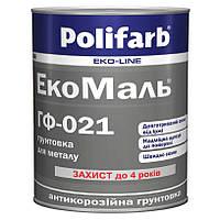 Грунтовка алкидная антикоррозийная Polifarb ГФ-021 Экомаль для металла 2,7 кг