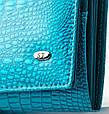 Лаковый кошелек, женский Sergio W501 light-blue, голубой, фото 3