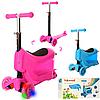 Детский самокат-беговел со светящимися колесами и ящичком JR 3-022 ***