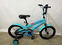 Детский велосипед JK-711 CROSSER (16 дюймов) бирюзовый ***