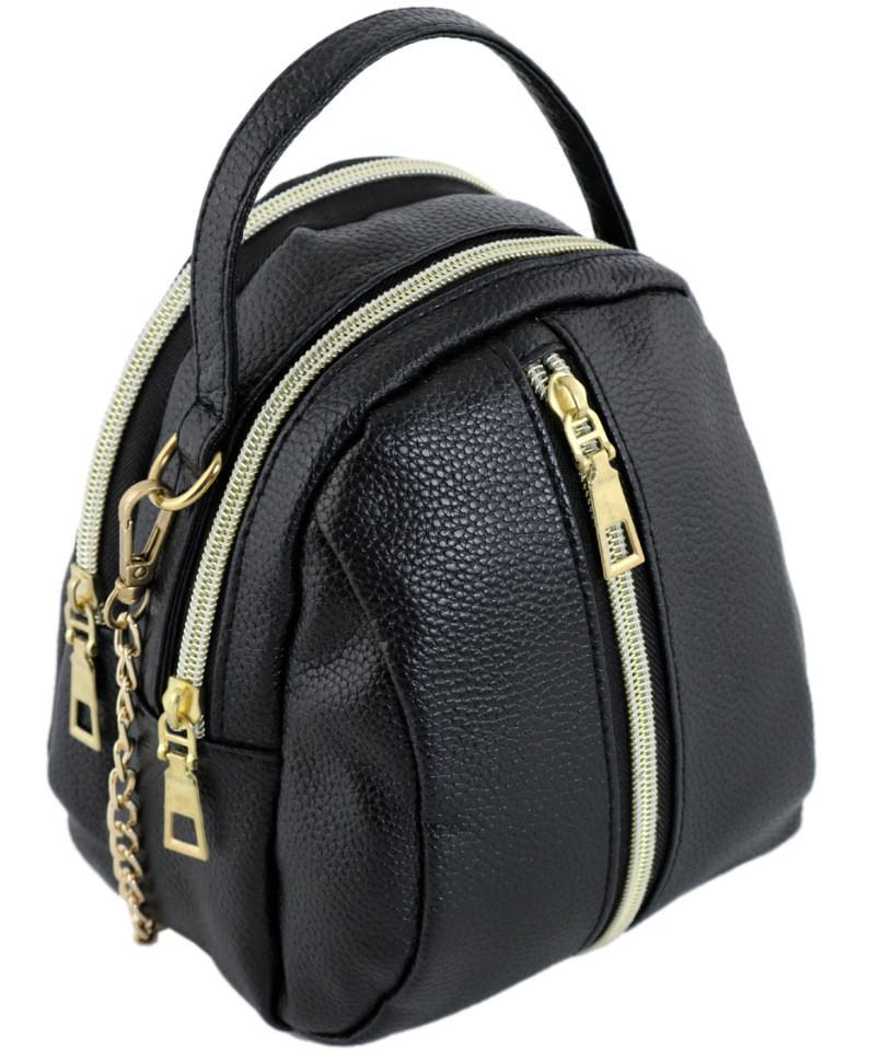 Мини-сумка Traum 7220-60 женская кожзам черный
