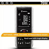 DEKO ручной лазерный дальномер, цифровая рулетка 70 метров, фото 1