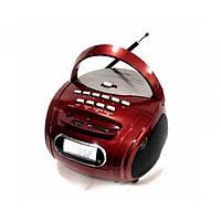 Портативная колонка бумбокс MP3 USB радио Golon RX 186 приёмник Красный