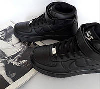 Кроссовки Nike Air Force High Black, фото 1