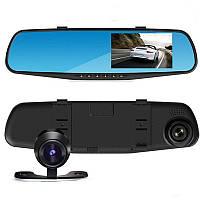 Відеореєстратор дзеркало DVR T605 HD з двома камерами і сенсорним екраном