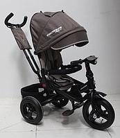Трехколесный велосипед-коляска Azimut Crosser T-400 TRINITY AIR (надувные колеса) New 2018 шоколадный