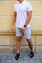 Модный летний комплект  тениска -поло  и серые шорты  в ассортименте   S, M, L, XL, XXL , фото 2
