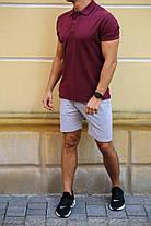Модный летний комплект  тениска -поло  и серые шорты  в ассортименте   S, M, L, XL, XXL , фото 3